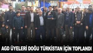 AGD üyeleri Doğu Türkistan için toplandı