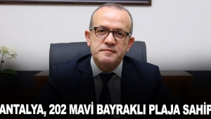 Antalya, 202 Mavi Bayraklı plaja sahip