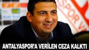 Antalyaspor'a verilen ceza kalktı