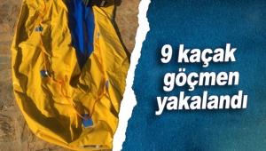 Kaş'ta 9 kaçak göçmen yakalandı