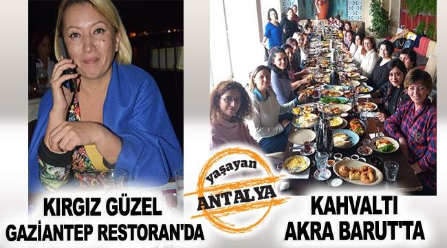 Kırgız güzel Gaziantep Restoran'da