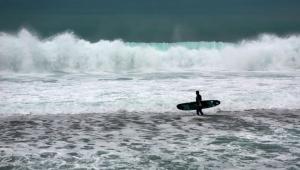 Sörfçüler 'alarm'ı fırsata çevirdi