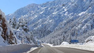 Alacabel'de doyumsuz kar manzarası