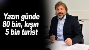 Antalya'da yazın günde 80 bin, kışın 5 bin turist