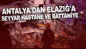 Antalya'dan Elazığ'a seyyar hastane ve battaniye