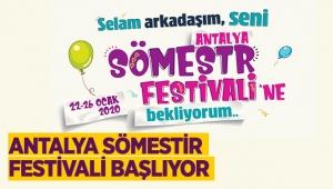 Antalya Sömestir Festivali başlıyor