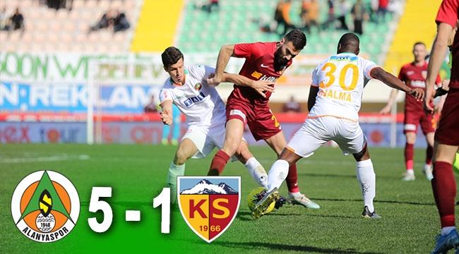 Aytemiz Alanyaspor - Hes Kablo Kayserispor: 5-1