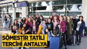Sömestir tatili tercihi Antalya