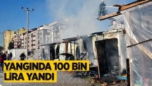 Yangında 100 bin liranın yandığı iddiası