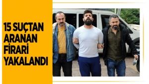 15 suçtan aranan firari yakalandı