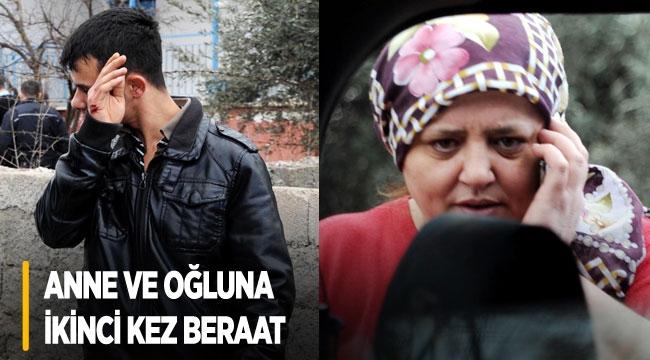 Anne ve oğluna ikinci kez beraat