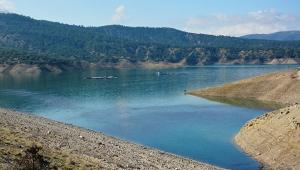 Korkuteli Barajı'nda su seviyesi yükseliyor
