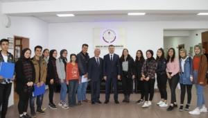 Öğrencilerden Arslan'a ziyaret
