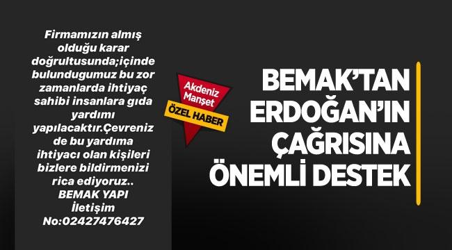 BEMAK'tan Erdoğan'ın çağrısına önemli destek