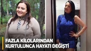 Fazla kilolarından kurtulunca hayatı değişti