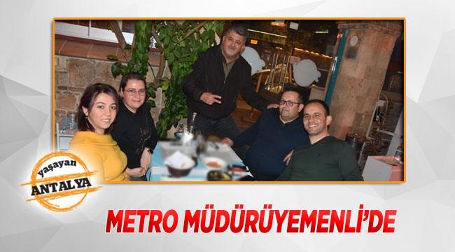 Metro müdürü Yemenli'de