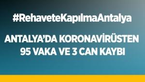 Antalya'da Koronavirüsten 95 vaka ve 3 can kaybı