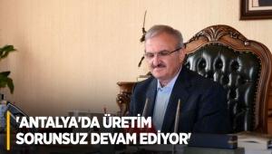 Vali Karaloğlu: Antalya'da üretim sorunsuz devam ediyor