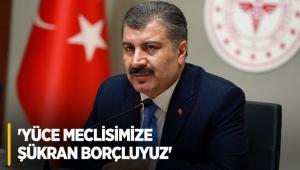 'Yüce Meclisimize şükran borçluyuz'