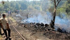 Alanya'daki yangına vatandaşlar da müdahale etti