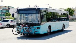Antalya'da, belediye otobüslerinde bisikletli yolcu için kolaylık
