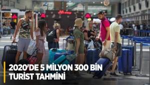 Antalya'ya, 2020'de 5 milyon 300 bin turist tahmini
