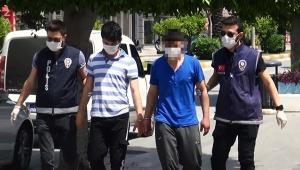 Gazetecilere 'beni iyi çek' diyen hırsızlık şüphelisi tutuklandı