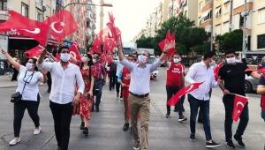 Kepez sokaklarında 19 Mayıs coşkusu