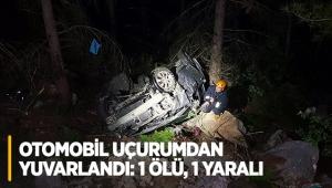 Otomobil uçurumdan yuvarlandı: 1 ölü, 1 yaralı