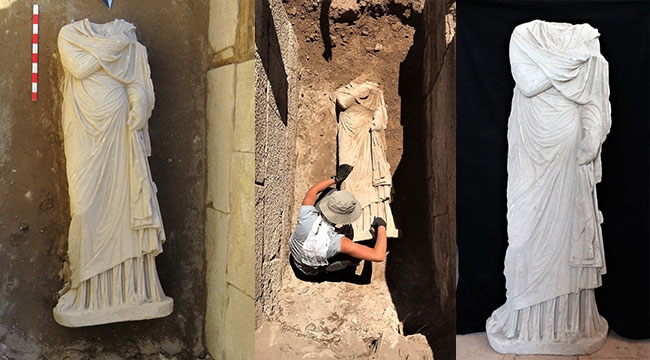 Patara'da bulunan heykel heyecan yarattı