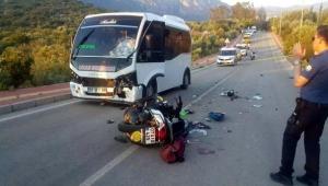 Kaş'ın motosikletli özel kuryesi 'Maho' kazada öldü