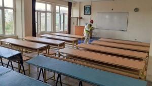 YKS öncesi okullara dezenfekte