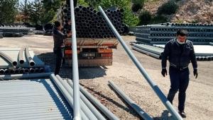 2 ayda çiftçiye 23 kilometrelik sulama borusu desteği
