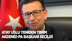 Atay Uslu yeniden TBMM Akdeniz-Pa başkanı seçildi