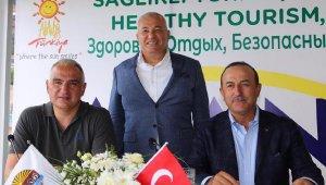Bakanlar Çavuşoğlu ve Ersoy, Alanya'da 'sağlıklı turizm'i anlattı