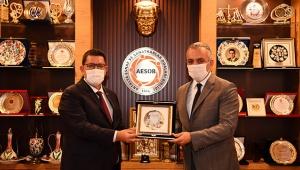 Başkan Esen'den AESOB'a ziyaret