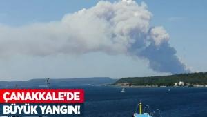 Çanakkale'de büyük yangın!
