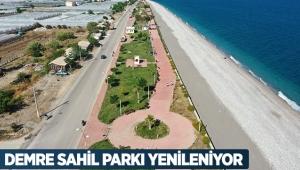 Demre Sahil Parkı yenileniyor