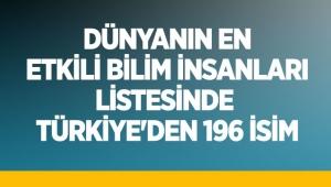 Dünyanın en etkili bilim insanları listesinde Türkiye'den 196 isim