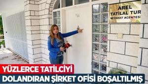Yüzlerce tatilciyi dolandıran şirket ofisi boşaltılmış