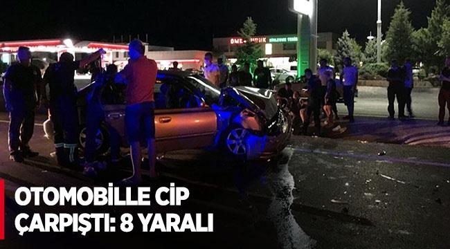 Antalya'da otomobille cip çarpıştı: 8 yaralı