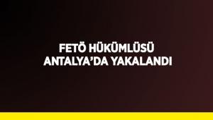 FETÖ hükümlüsü Antalya'da yakalandı