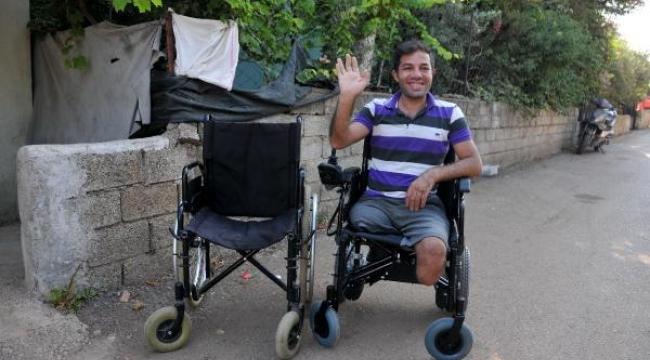 İki bacağı olmayan Ensar'ın hayali gerçek oldu
