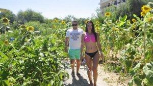 Turistler perma kültür bahçesini çok sevdi