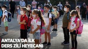 Antalya'da ilk ders zili heyecanı