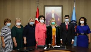 AÜ ile Kazak Ulusal Sanat Üniversitesi arasında iş birliği