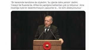 Fahrettin Altun, Erdoğan'ın Macron ile ilgili yaptığı konuşmayı paylaştı