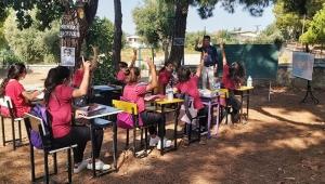 Öğrencilere 'Hababam' misali açık havada ders