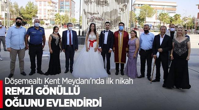 Remzi Gönüllü oğlunu evlendirdi