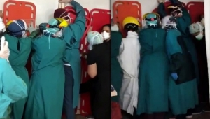 Sağlık çalışanlarına saldırı girişimine büyük tepki